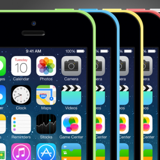 iPhone 5C PSD Mockup