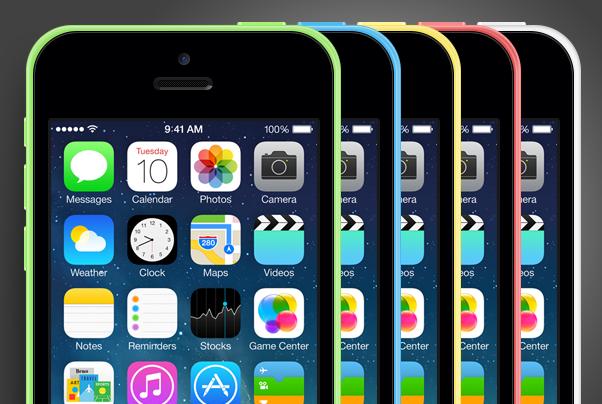 iPhone 5C PSD Mockup