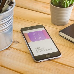 iPhone 6 Free PSD Mockup