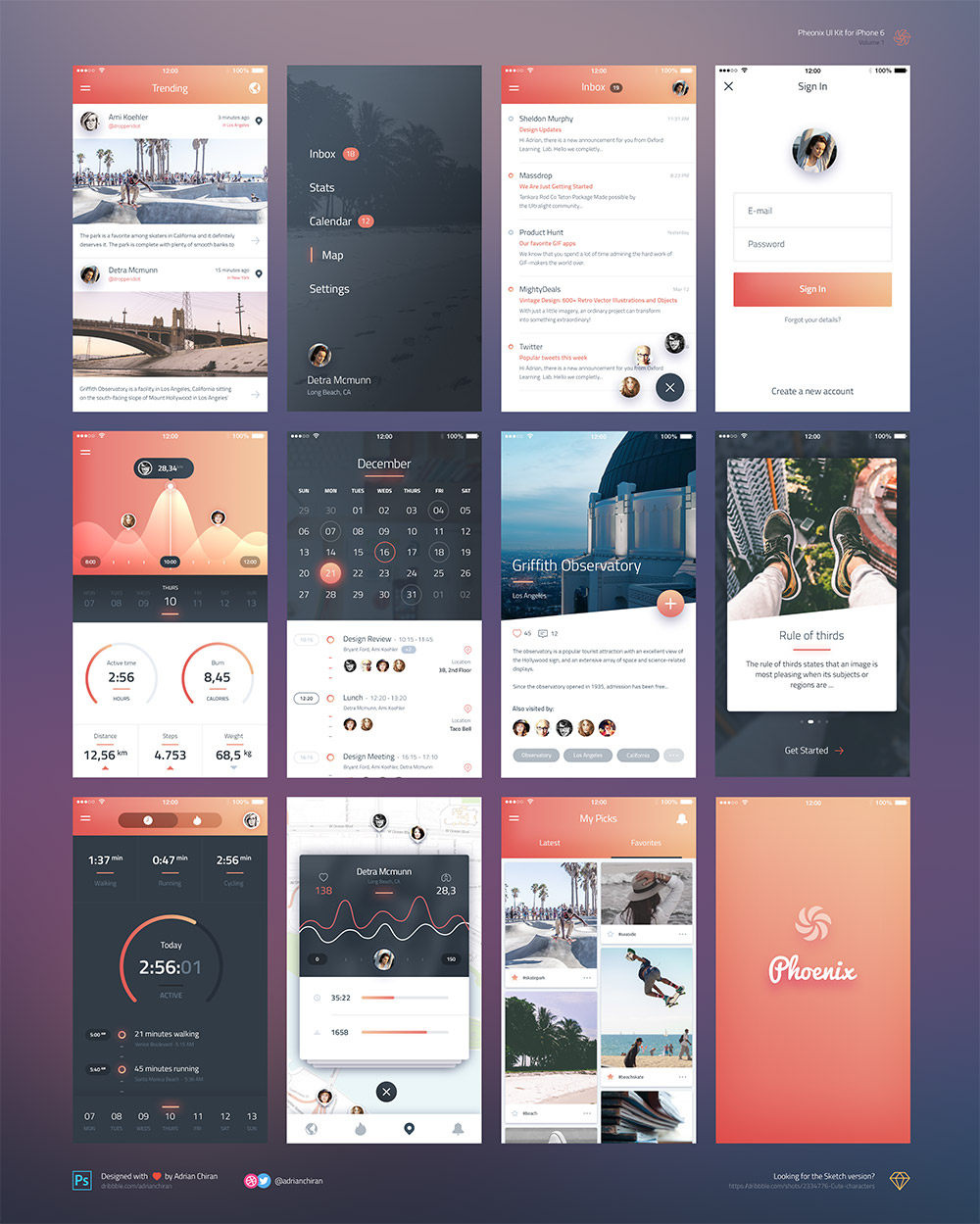 Iphone 6 ios application ui kit free psd download for Designing an iphone app