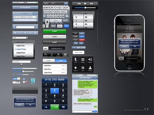 iPhone GUI PSD Source PSD Layered PSDs Iphone GUI Apple