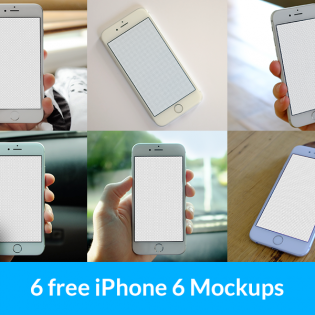 iPhone in Hand Free PSD Mockups