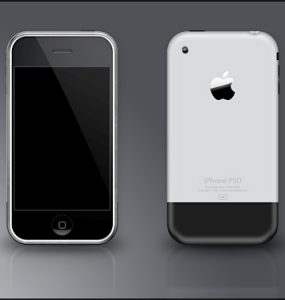 iPhone PSD PSD, Objects, Mobile, Layered PSDs, Iphone, Apple,