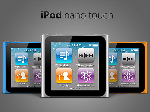 iPod Neno Touch Free PSD Touch, Sound, Psd Templates, PSD Sources, psd resources, PSD images, PSD icon, psd free download, psd free, PSD file, psd download, Objects, Neno, Music, Multimedia, Layered PSDs, iPod, Icons, Glossy, Free PSD, Electronics, download psd, download free psd, Apple,