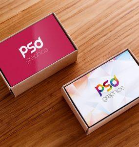 Business Card Box Mockup Free PSD