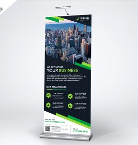 Multipurpose Creative Roll-up Banner Template PSD