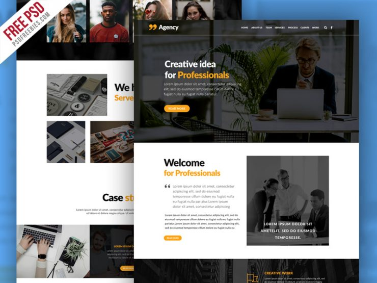 Personal Portfolio and Corporate Website Template PSD