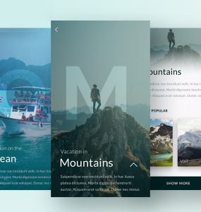 Travel App UI Screen Free PSD