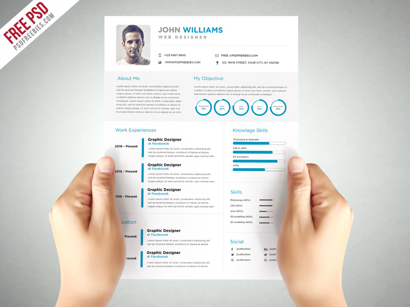 Clean and elegant resume template free psd download download psd clean and elegant resume template free psd yelopaper Gallery