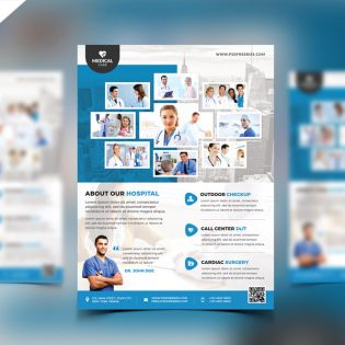Health Clinic and Hospital Flyer PSD Template