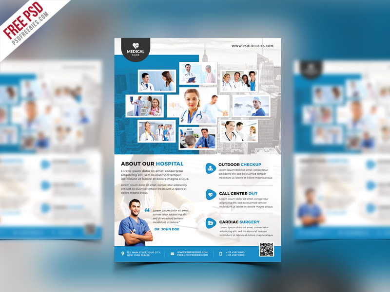 Health Clinic And Hospital Flyer Psd Template Download Download Psd