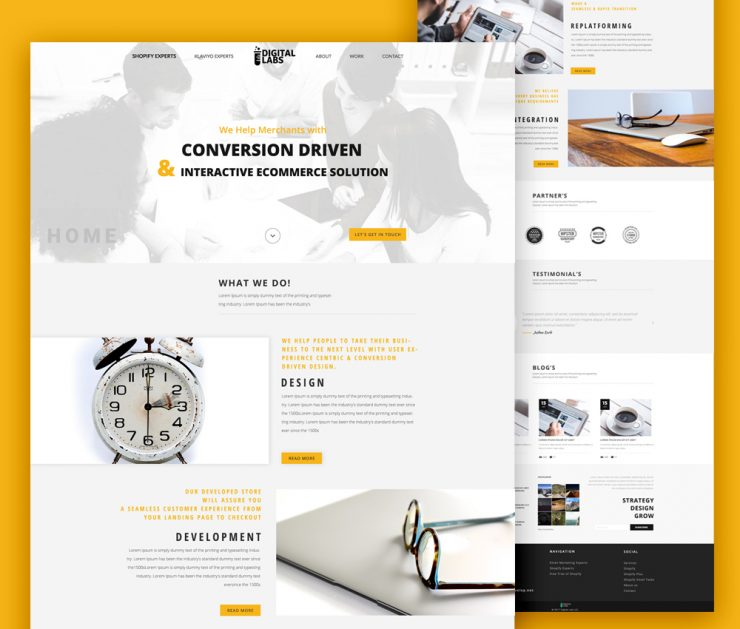 Digital Agency Website Template PSD