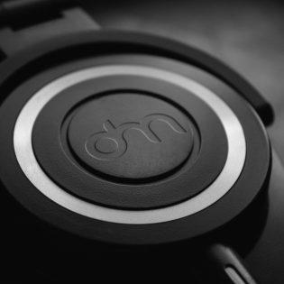 Headphones Logo Branding Mockup Free PSD