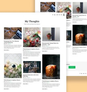 Clean Masonry Blog Template Free PSD