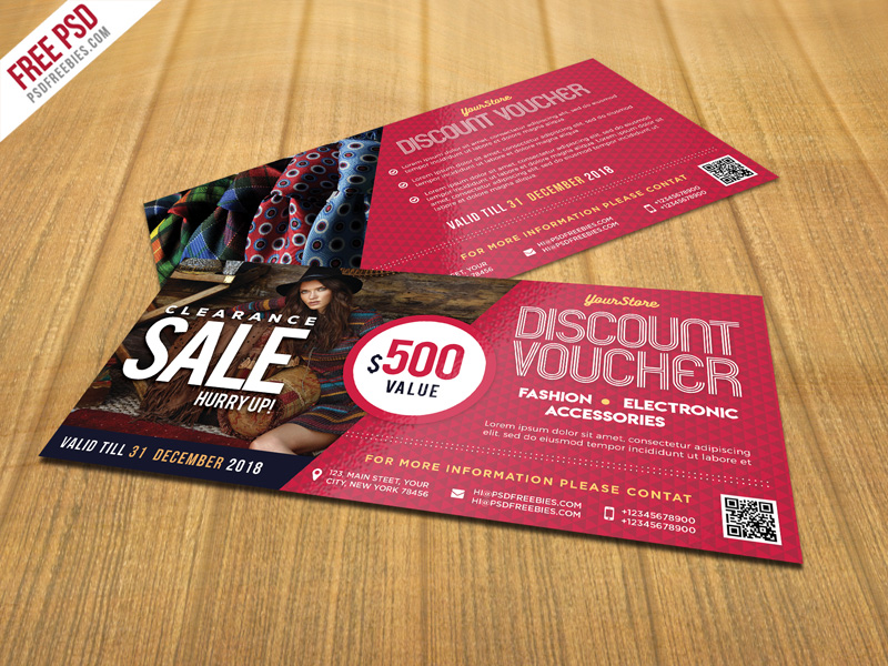 Sale Discount Voucher PSD Template Freebie