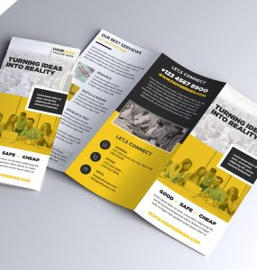 Multipurpose Tri-fold Brochure PSD Template