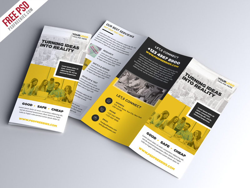 Multipurpose Tri Fold Brochure Psd Template Download Psd
