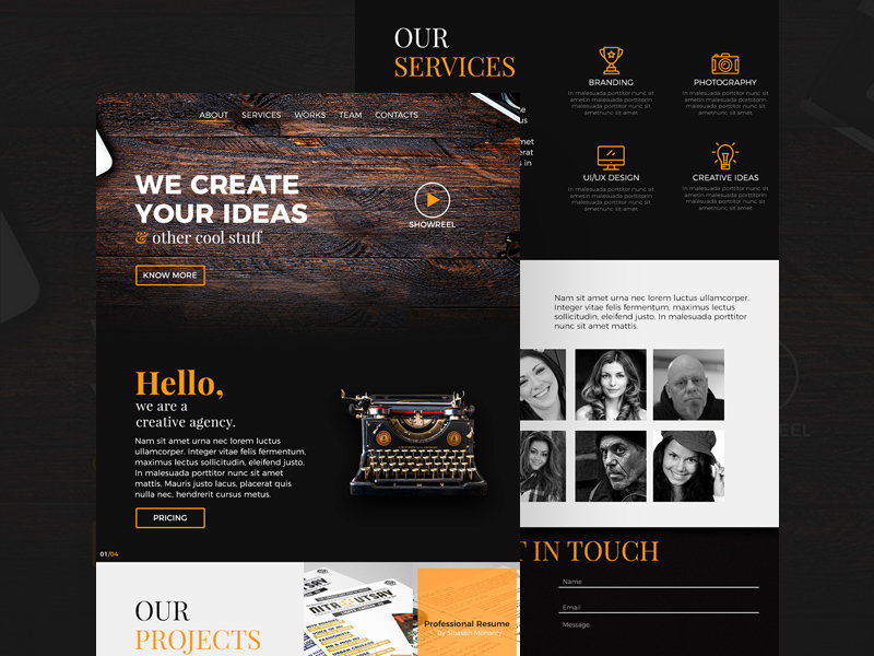 Creative Digital Agency Website Template PSD