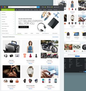 eBay Website Template Free PSD