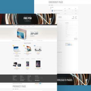 EStore ECommerce Website Template Free PSD