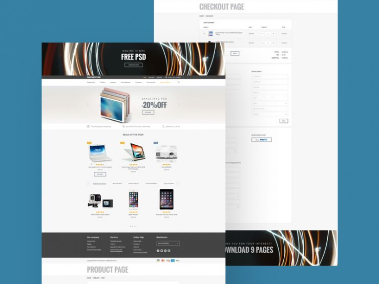eStore eCommerce Website Template Free PSD