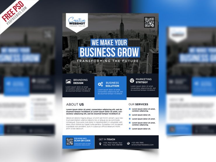 Premium Advertising Flyer PSD Template