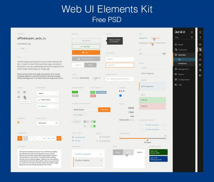 Web UI Elements Kit PSD widget, website navigation, webdesign, Web Resources, Web Menu, Web Elements, Web Design Elements, web app, Web, UX, user navigation, User Interface, User, unique, ui set, ui kit, UI elements, ui design, UI, tooltips, text/input fields, Testimonial, task, Switches, submit, star rating, Speech Blurb, sort, Social Media Icons, Social Media, Social, Slider, site, Simple, Sign Up, Scrollbar, review, Resources, report, reminder, Rating, range, Radio Buttons, Quality, Psd Templates, PSD Sources, psd resources, PSD images, psd free download, psd free, PSD file, psd download, PSD, Profile, Product, Photoshop, pagination, Page, pack, original, order, notifications, Notification, new, Navigation Bar, Navigation, Navi, navbar, Modern, Minimal, Message, Menu, material design, Loading, Loader, Layered PSDs, Layered PSD, Kit, Interface, inputs, Guide, GUI Set, GUI kit, GUI, Graphics, Graphical User Interface, graph, Fresh, Freebies, Freebie, free ui psd, Free Resources, Free PSD, free download, Free, Flat, filter, FB, fav buttons, Elements, dropdown, Drop Down Menu, Drop Down, download psd, download free psd, Download, detailed, Design Resources, Design Elements, Design, dashboard, Creative, Content Sliders, Comment Box, comment, Clean, Check Boxes, Check Box, Check, chat, Cards, Calendar, Buttons, box banners, Blue, Bar, Badges, Adobe Photoshop,