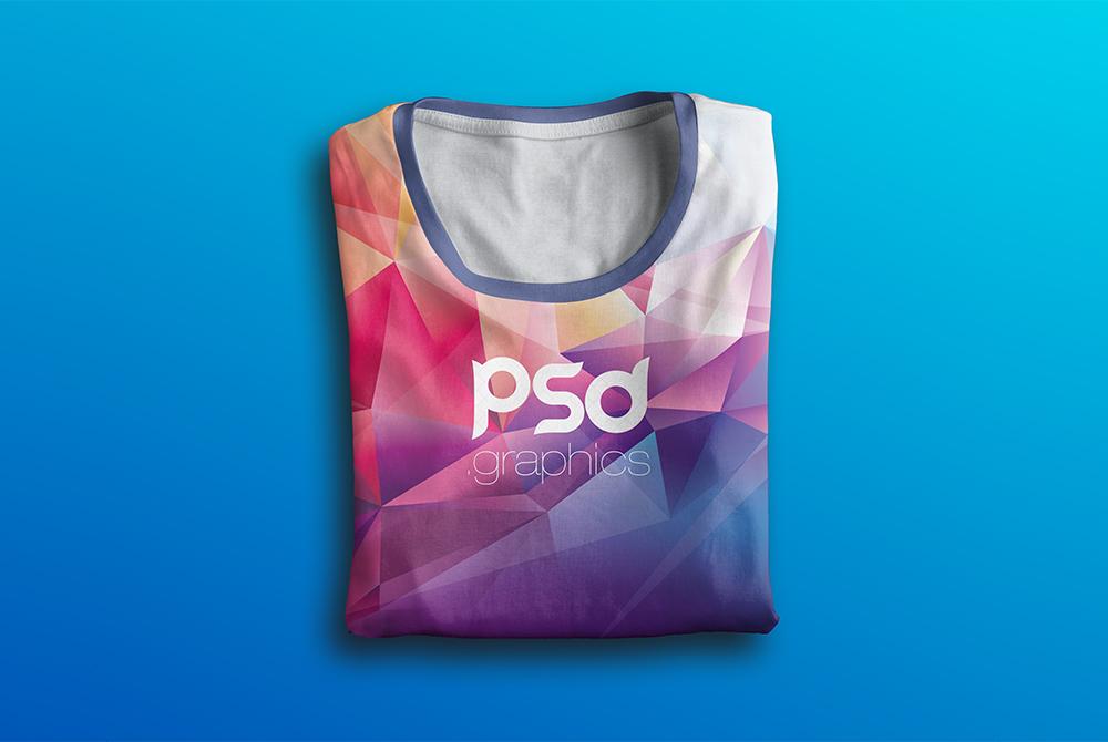 Folded T-Shirt Mockup Free PSD