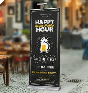 Happy Hour Promotion Roll Up Banner PSD Template wine bar, Wine, Vintage, vine, urban poster, trendy, Template, summer party, stylist, Stylish, Style, street, standy template, Standy PSD, standy, standard, stand display, Simple, Signboard, signage, Rollup Freebie, Rollup Banner PSD, rollup banner, rollup, roll-up party, roll-up banner, roll up simple banner, roll up banners, roll up, rock roll-up, rock party, rock banner, rock, road banner, retro poster, retro flyer, Retro, Restaurant Poster, Restaurant, pub, PSD template, PSD, promotional, Promotion, Professional, product display, Print template, print ready, Print, presentation template, premium flyer, Premium, poster 2017, Poster, Photoshop, photographer, party banner, Party, parties, Outdoor, open bar, nightclub, night party, Night Club, Night, music roll up, music rock, music party, Music event, Music, multipurpose roll up, Multipurpose, multifunction, multi-function, Modern, Menu, marketing, make up, lounge, invitation, hip hop event, happy hour promotion, happy hour poster, happy hour, Happy, Graphic, Fresh, Freebie, Free Rollup PSD, Free PSD, Free, food poster, Food, folding, flyer template, Flyer, fest, Event, Drinks, drink night flyer, drink menu, Drink, Download, dj event, dj concert, DJ banner, DJ, display, Disco, Design, Dance, customize, creative banner, Creative, craft beer, Corporate Rollup banner, corporate roll up, corporate banner, Corporate, concert standy, Commercial, cocktails, cocktail, CMYK psd, cmyk, club poster, club drink, Club, Classic, chillout party, chillout banner, chalkboard flyer, Chalkboard, Cafe, business roll up, Business Card, Business, branding, Billboard Template, beer pub, beer promotion, Beer Party, beer festival, Beer, bar promotion, bar poster, Bar Flyer, Bar, banner template, banner roll-up, banner 2017, Banner, announcement, Alcohol, Advertising, advertisement, advertise, Advert, ads, ad, abstract brochure, 70x30,