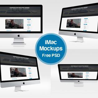 iMac Mockups Free PSD