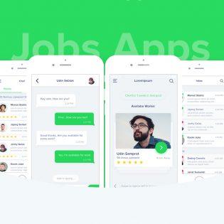 Job Search App Free PSD