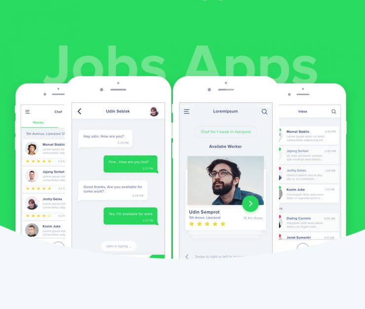 Job Search App Free PSD