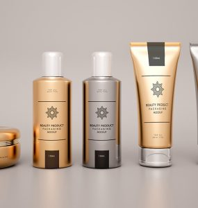 Cosmetic Products Packaging Mockup Free PSD