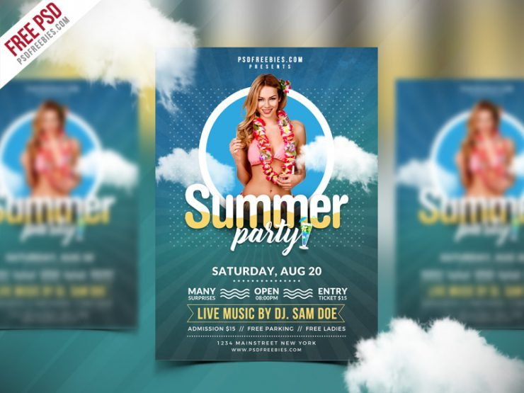 Best Free Summer Party Flyer PSD Template weekend, trance, Template, summer vintage flyer, summer template, summer poster, summer party poster, summer party flyer, summer party, summer night, summer holiday, summer flyer, summer break, summer beach party, summer beach, summer bash, Summer, Spring Summer Party, Spring Summer Bash, Spring Party, Spring Festival, spring break, spring bash, Spring, season, Sea, psd flyer, PSD, Print, Poster, pool, party flyer, Party, parties, Park, outside, outdoors, ocean, nightclub, Night Club, New Flyer PSD, new, Music, Modern, miami, lounge, live music, Light, kids party, invitation, house dj, Hot, holiday party, Holiday, Fresh, Free PSD, Free FLyer Templates, free flyer template, flyer templates, flyer template, Flyer, festival, fest, fall, Event Flyer PSD, Event, electronic, electro, dj promote, DJ, Design, day, dance music, creative Flyer PSD, Cover, concert, college, cocktail, Club, caribbean, break, Blue, Birthday, beach party poster, beach party flyer, beach party, beach flyer, beach, artistic, Artist,