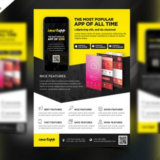 Mobile App Promotion Flyer Template PSD
