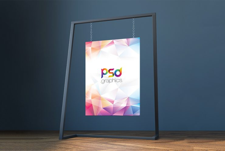 Hanging Canvas Mockup Free PSD
