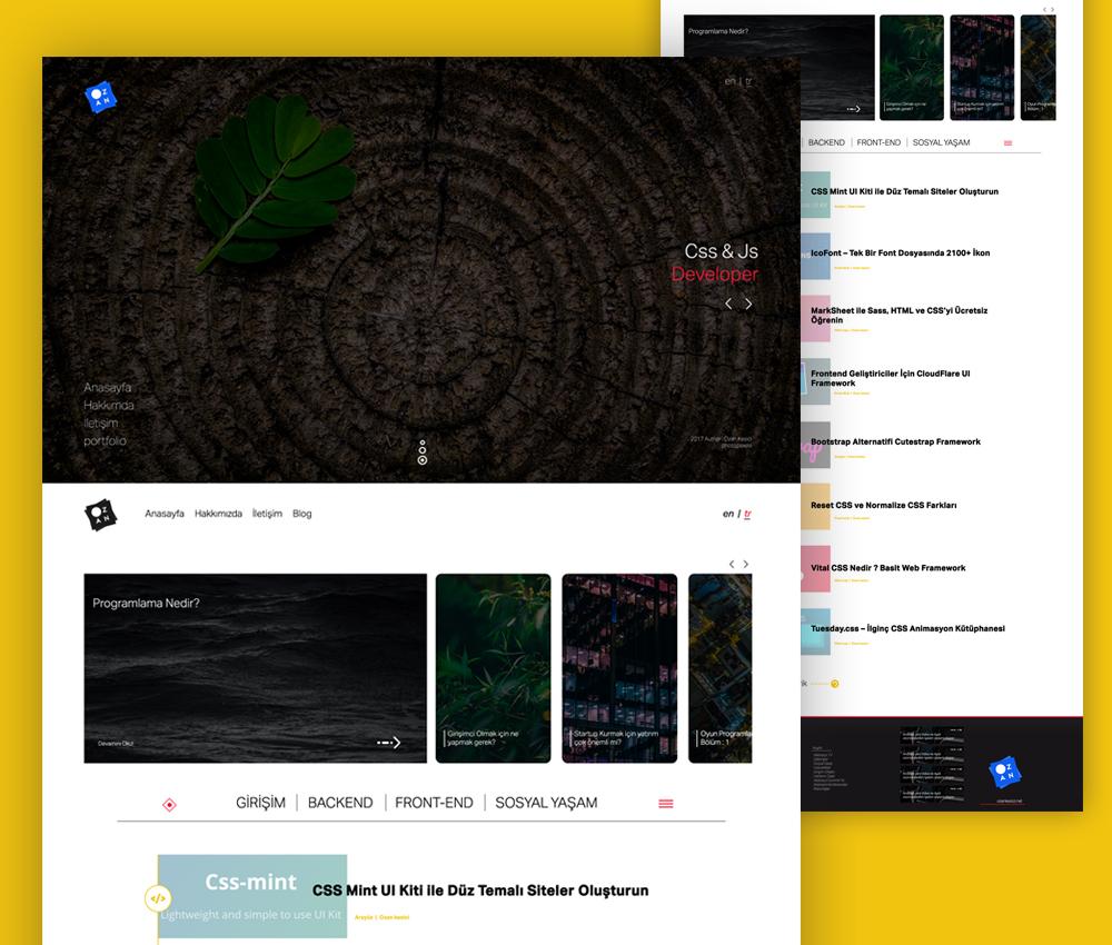 portfolio website design template free psd