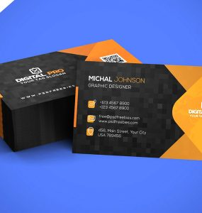 Modern Corporate Business Card Template PSD