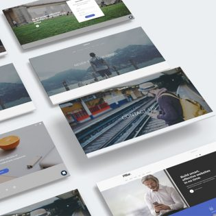Website Template Perspective Mockup PSD