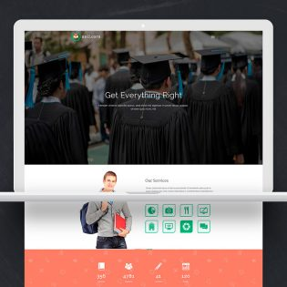 Education Website Template Free PSD