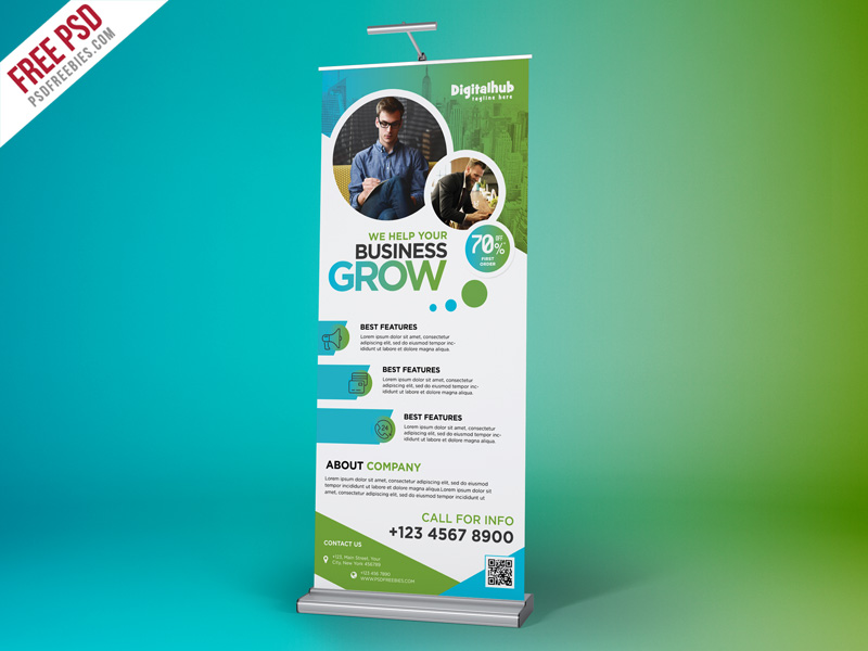 Business Promotion Roll-up Banner Template PSD Download ...