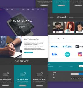 Vibrant Agency Website Template Free PSD