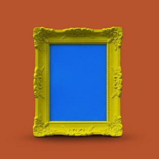 Wooden Frame Mockup PSD