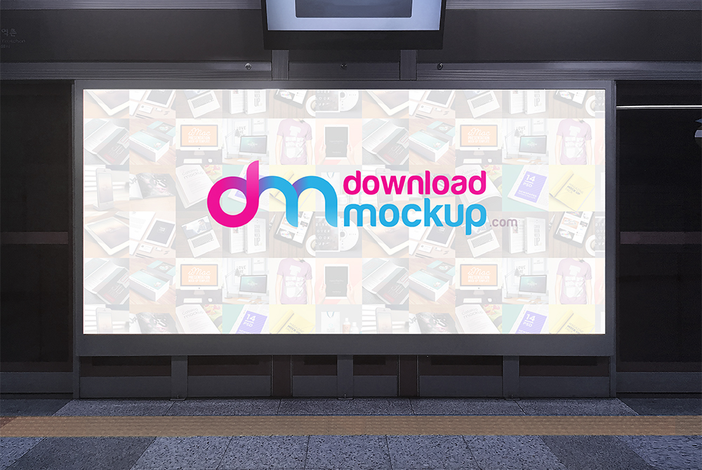 Subway Billboard Mockup Free PSD Download - Download PSD