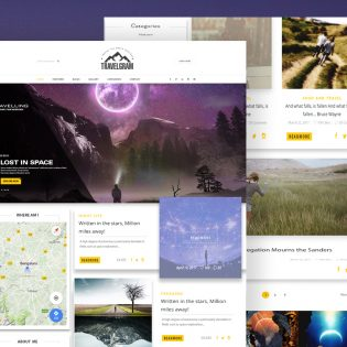 Simple Travel Blog Website Template PSD