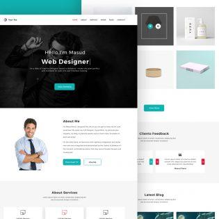 Web Designer Personal Portfolio Website Template PSD