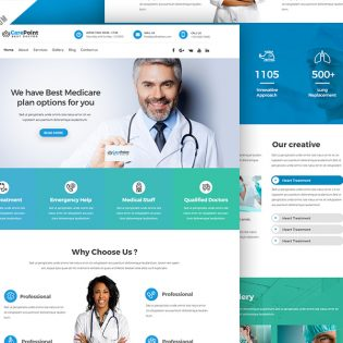 Medical Hospital Website PSD Template