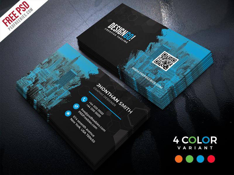 Free Corporate Business Card PSD Bundle Download - Download PSD