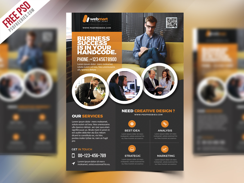 Corporate Flyer Template Free Psd Download Download Psd