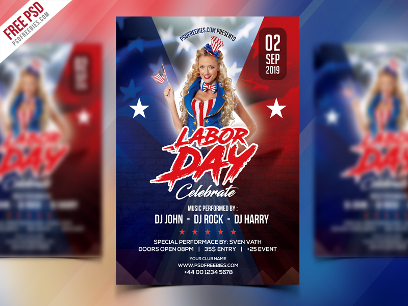 Free Labor Day Celebration Flyer PSD Download - Download PSD